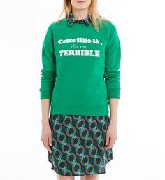 5422a549a52f Sweat Success La Petite Française en vert pour femme - Galeries Lafayette