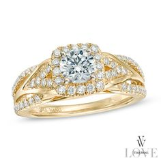 Vera Wang LOVE Collection 1 CT. T.W. Diamond Engagement Ring in 14K Gold