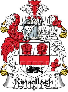 Kinsellagh Family Crest apparel, Kinsellagh Coat of Arms gifts
