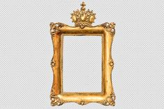 Check out Baroque Golden Picture Frame by LiliGraphie on Creative Market