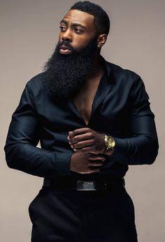 Beard Styles 366691594653549019 - bigbeardedfrenchman Source by Drikcy_DevilArts Men In Black, Gorgeous Black Men, Beautiful Men, Black Men Beards, Handsome Black Men, Beard Game, Hommes Sexy, Well Dressed Men, Fine Men