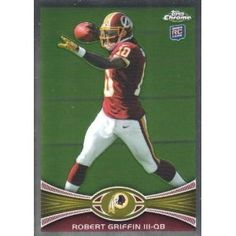 bb7b644f6bb Robert Griffin III Washington Redskins 2012 Topps Chrome Football Rookie  Card . . .  200 by NFL.  4.25. TOPPS FINEST