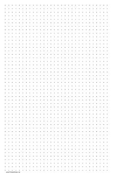 This Printable Dot Paper Has Three Dots Per Inch And Is In Portrait  (vertical)