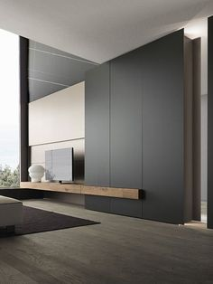 Living room interior storage and interior at the same time! Tv Wall Design: Yes … – Typical Miracle Living Room Modern, Home Living Room, Interior Design Living Room, Small Living, Spacious Living Room, Living Room Remodel, Living Room Decor, Tv Wall Design, House Design
