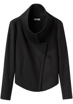 sensible wool jacket short black