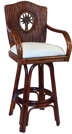 Lucaya Rattan Bar Stool and Counter Stool from Hospitality Rattan 913-6208