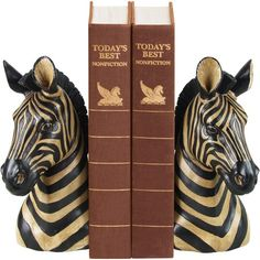 I pinned this Zebra Bookend (Set of 2) from the Sterling Home event at Joss and Main!