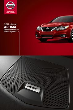 The available Bose® Premium Audio System fills the Altima® with music of both depth and precision. Nine speakers, custom-tuned to the cabin's acoustics, channel sound throughout the vehicle, for an expansive musical experience. DISCLAIMER: Available Feature.