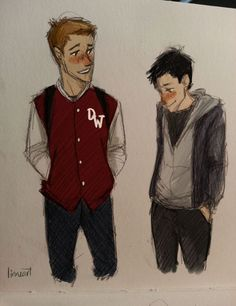 why are destiel teenage fanarts so adorable