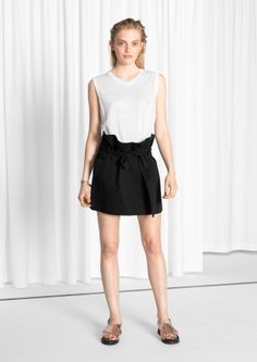 & Other Stories | Belted Mini Skirt