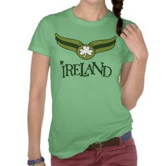 Shamrock Green Snitch with Ireland Name T Shirt