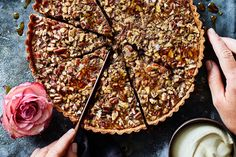 Boozy Salted Pecan and Maple Tart