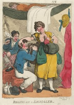 Rigging out a Smuggler - Thomas Rowlandson - Royal Museums Greenwich Prints