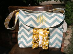 Personalized Handmade Diaper Bag on Etsy, $85.00