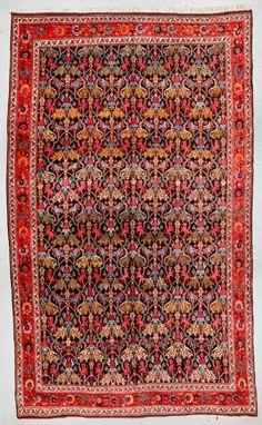 Fine Antique Bidjar Lion Rug, Persia: 12'11'' x 20'10''
