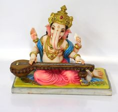 Hindu Veena Ganesh Statue Religion Om Ganesh, Ganesh Lord, Ganesh Idol, Ganesh Statue, Shree Ganesh, Ganesha Art, Ganesha Pictures, Ganesh Images, Ganpati Bappa Wallpapers
