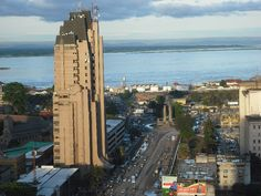 Kinshasa - capital of the Democratic Republic of the Congo, Congo River in the background to the north.