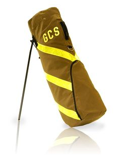 #Firefighter bunker gear turned into a golf bag, another #DIY way to reuse old firefighter equipment and tools. #golf