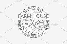 Ad: Farm Logo Templates by JuliaMalinovskaya on Logo templates for farm and agriculture products. --- ZIP file includes: - 5 editable EPS 10 vector files with unexpanded fonts - 5 editable Agriculture Logo, Farm Logo, Typo Logo, Logo Nasa, Logo Design Inspiration, Organic Food Shop, Logo Templates, Logos, Logo Color