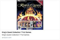 King's Quest Collection 7 Full Games King's Quest, Game Prices, Gone Tomorrow, Vintage Video Games, Old Computers, Pc Games, Toys For Boys, Big Boys, Nostalgia