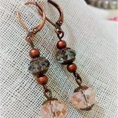 Aretes Murano Rosado Drop Earrings, Casual, Jewelry, Fashion, Stud Earrings, Moda, Jewlery, Jewerly, Fashion Styles