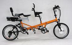 eZee Folding Tandem by aldby01, via Flickr Fat Bike, Electric Bikes Uk, Cheap Motorcycles, Tandem Bicycle, Bike Trailer, Bike Frame, Bike Design, Cycling Bikes, Tricycle