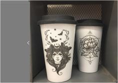 KEEP CUPS Witchy vibes porcelain reusable, sustainable coffee cuos Travel Mug, Witch, Cups, Porcelain, Gift Ideas, Coffee, Gifts, Kaffee, Mugs
