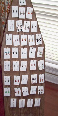 Vintage Ironing Board Earring/Necklace Display