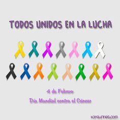 Hoy, 4 de febrero, nuestro pequeño homenaje por todos aquellos grandes luchadores que están en la batalla. Porque algún día la palabra cáncer solo signifique un signo del zodiaco.  #diamundialcontraelcancer #4defebrero #unidosenlalucha #grandesluchadores #cancer