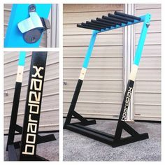 Handmade freestanding surfboard racks   BoardRAX is Expertly designed to fit shortboards, longboards, SUPs, skateboards, wakeboards  snow boards  Made out ..., 1022973937