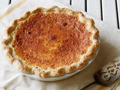 Buttermilk Pie - I've never had anything like this, but how bad could butter, sugar, eggs and nutmeg be?