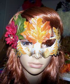 Fairy Woodland Nymph Mask  Fall Octoberfest by ShymaliLlamas, $12.00 Jester Mask, Masquerade Dresses, Book Signing, Nymph, Hallows Eve, Woodland, Fairy, Trending Outfits, Greek Mythology
