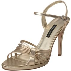 Caparros Women's Kerry Platform Sandal *** Find out more about the great product at the image link. Blue Sandals, Shoes Sandals, Gold Ankle Strap Heels, Fashion Sandals, Cute Shoes, Leather Sandals, Shoe Boots, Image Link, Maids