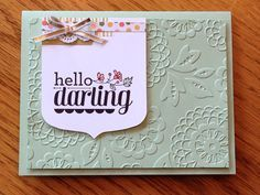 Stampin up Hello Darling - Google Search