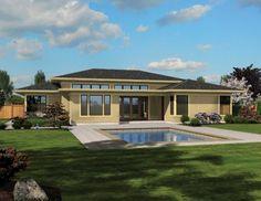 Wide-open Contemporary (HWBDO76495) | Contemporary House Plan from BuilderHousePlans.com