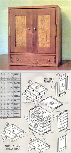 Jewelry Chest Plans - Woodworking Plans and Projects | WoodArchivist.com