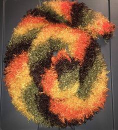 Magic Tube Scarf / Boa, Eyelash Yarn, Fall / Autumn Colors, OS, Convertible    eBay