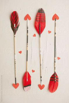 Valentine Arrows from stocksy.com  Featured @ www.partyz.co your party planning search engine!