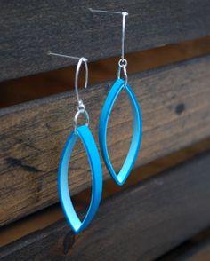 Modern Paper Earrings / Lightweight Earrings / Paper Jewelry / Eco Friendly Jewelry / Sterling Silver Earwire - Mies. $18.00, via Etsy.