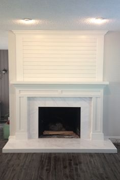Have a look at this neat photo – what an artistic design – farmhouse fireplace tile Marble Fireplace Surround, Fireplace Redo, Craftsman Fireplace, Shiplap Fireplace, Farmhouse Fireplace, Fireplace Hearth, Fireplace Remodel, Living Room With Fireplace, Fireplace Surrounds