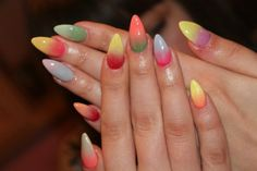 17 Amazing Trendy Nail Designs For This Spring. I hope not! These nails are disgusting! Nosferatu!