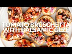 Tomato bruschetta with balsamic glaze is an easy Italian appetizer topped with tomatoes, onions, garlic, basil and olive oil. Delicious, fresh and simple. Bruschetta Recipe Balsamic, Tomato Bruschetta, Italian Appetizers Easy, Appetizer Recipes, Italian Menu, Balsamic Glaze, Plant Based Recipes, Meal Planning, Delish