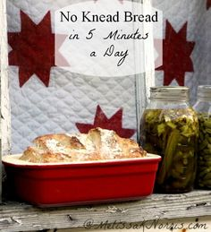 How to bake no knead bread in 5 minutes a day get the recipe http://melissaknorris.com/2012/02/22/pioneering-today-bake-your-own-bread-no-kneading/ Makes great bread bowls, garlic bread, and really only takes 5 minutes a day of active time! And costs $.30 a loaf