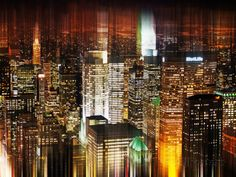 Urban Stretch Series, Fine Art, Manhattan by Night, New York, United States Photographic Print by Philippe Hugonnard at AllPosters.com