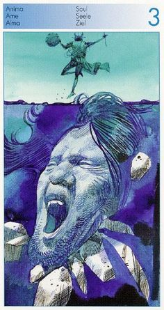 Three of  Cups (Soul) - Tarot of the Origins by Sergio Toppi