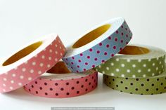 Dot Pattern Decorative Fabric Tape $5.50