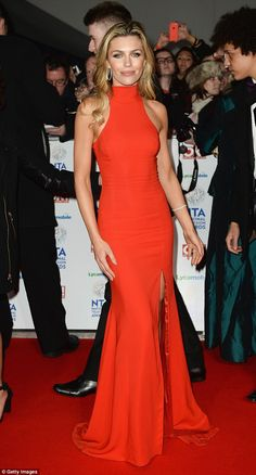 Wow-factor: Abbey stuns in her floor-length gown as she plays the red carpet at its own game