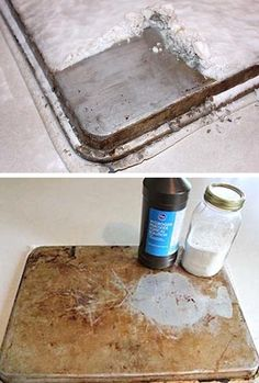 I actually have a few cookie sheets that look just like that – gross! They seem to rust and get grimy really fast. 55 MUST READ Cleaning Tips and Tricks