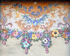 Barcelona Outdoor Tile Flower Mosaic