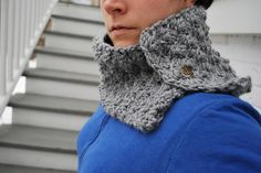 Ravelry: One Button Crochet Cowl pattern by A Crafty House